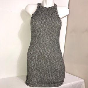 Garage Light Grey Marled Ribbed Sleeveless Dress